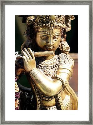 Krishna Song Framed Print by Jennifer Russo
