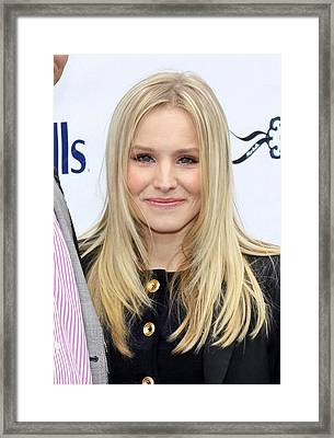Kristen Bell At A Public Appearance Framed Print by Everett