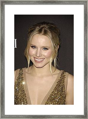 Kristen Bell At Arrivals For 12th Framed Print