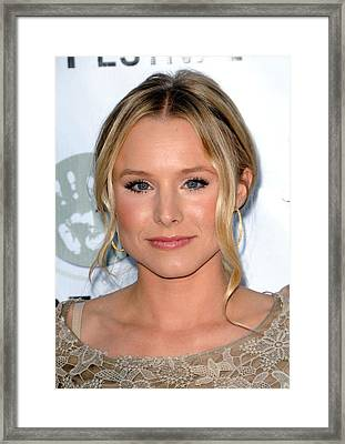 Kristen Bell At Arrivals For Artivist Framed Print