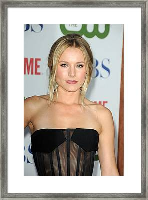 Kristen Bell At Arrivals For Cbs, The Framed Print by Everett