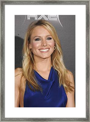Kristen Bell At Arrivals For Scream 4 Framed Print by Everett