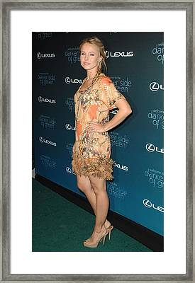 Kristen Bell At Arrivals For The Darker Framed Print by Everett