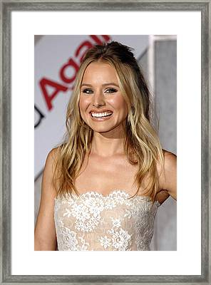 Kristen Bell At Arrivals For You Again Framed Print