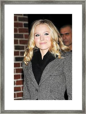 Kristen Bell At Talk Show Appearance Framed Print by Everett