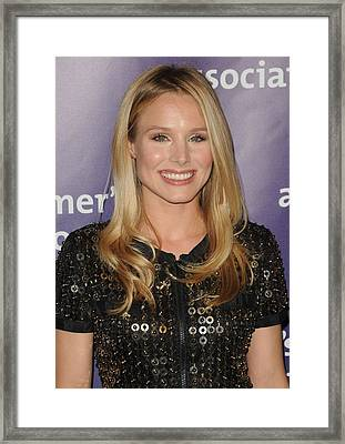 Kristen Bell In Attendance For 19th Framed Print by Everett