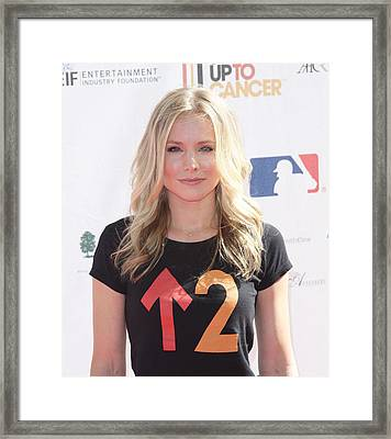 Kristen Bell In Attendance For Stand Up Framed Print by Everett