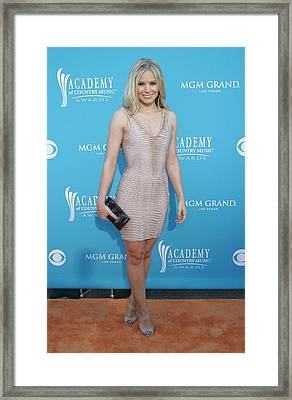 Kristen Bell Wearing A Herve Leger Framed Print by Everett