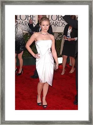 Kristen Bell Wearing A Jasmine Di Milo Framed Print by Everett