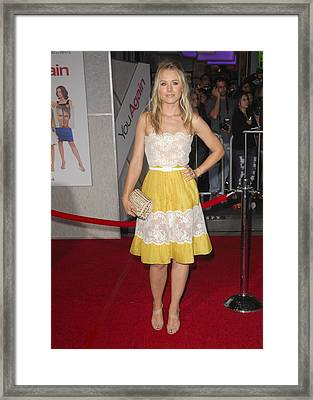 Kristen Bell Wearing A Valentino Dress Framed Print by Everett