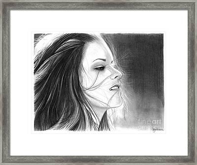 Kristen Stewart Framed Print by Crystal Rosene