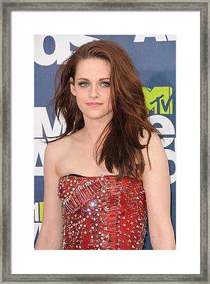Kristen Stewart Wearing A Balmain Dress Framed Print by Everett