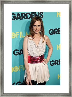 Kristen Wiig At Arrivals For Grey Framed Print