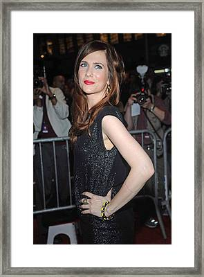 Kristen Wiig At Arrivals For The Annual Framed Print by Everett