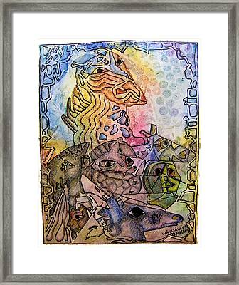 Kritters Framed Print by Mimulux patricia no No