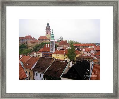 Krumlov  Roofs Framed Print by Yury Bashkin