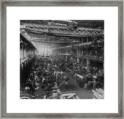 Krupp Cannon Manufacturing In Essen Framed Print