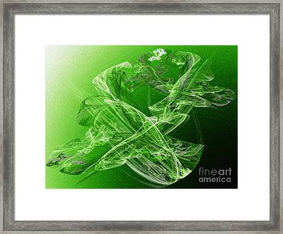 Krypton Lace Framed Print by Andee Design