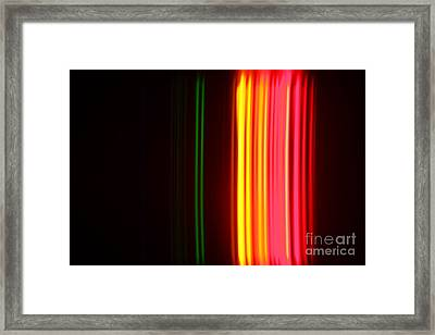 Krypton Spectra Framed Print by Ted Kinsman