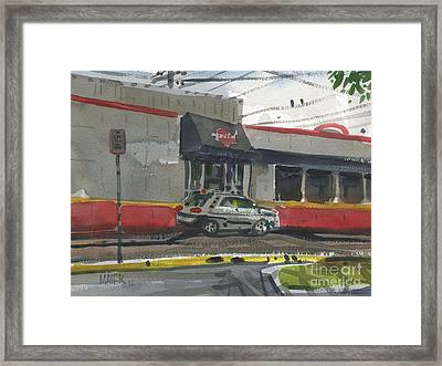 Krystal Drive-thru Framed Print by Donald Maier