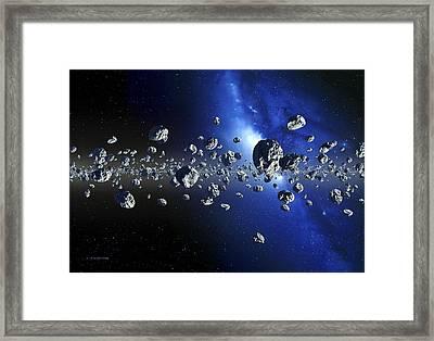 Kuiper Belt Objects Framed Print by Detlev Van Ravenswaay