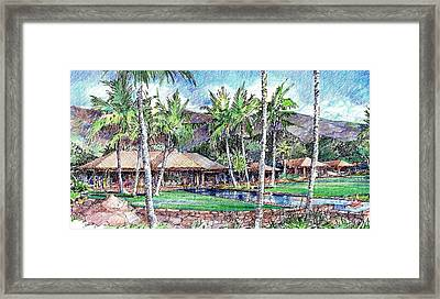 Kukio Estate Framed Print by Andrew Drozdowicz