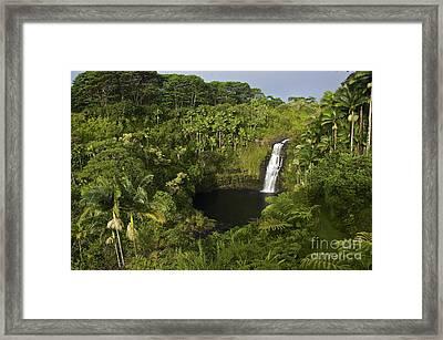 Kulaniapia Falls Framed Print