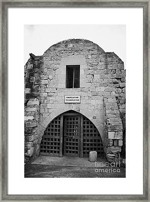 Kumarcilar Han The Gamblers Inn In Nicosia Trnc Turkish Republic Of Northern Cyprus Framed Print by Joe Fox