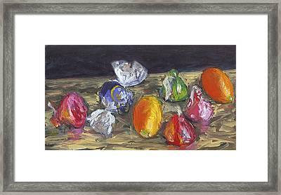 Kumquats And Candy Framed Print by Scott Bennett