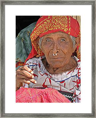 Kuna Lady Framed Print