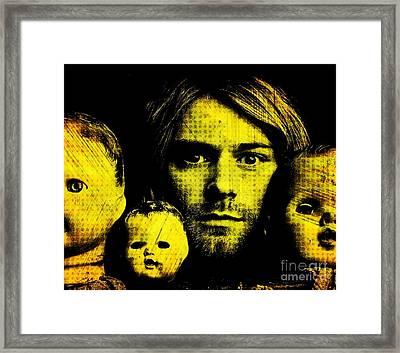 Kurt Cobain Framed Print by Ankeeta Bansal