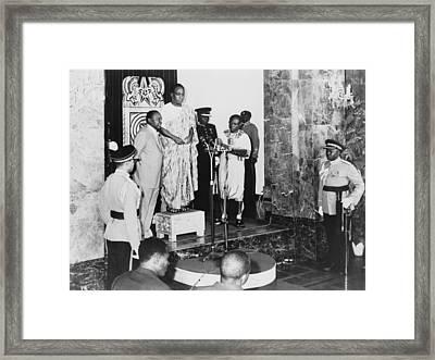 Kwame Nkrumah 1909-1972, Standing Framed Print by Everett