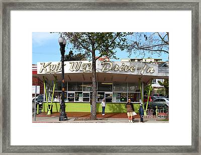 Kwik Way Drive-in Fast Food Restaurant . Oakland California . 7d13521 Framed Print by Wingsdomain Art and Photography
