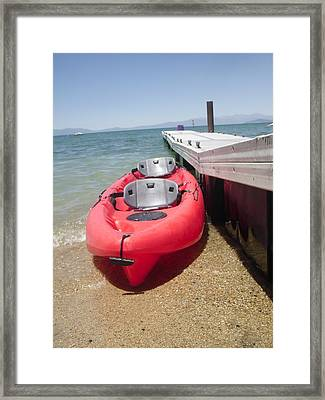 Kyack For Two Framed Print by Carol Duarte