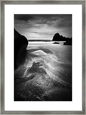 Kynance Cove Cornwall Framed Print by Dorit Fuhg