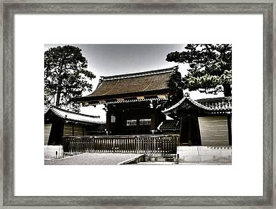 Kyoto Gosho Framed Print by Juergen Weiss