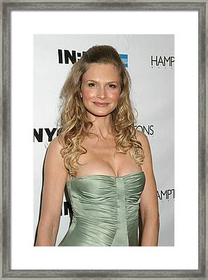 Kyra Sedgwick At Arrivals For Hamptons Framed Print by Everett