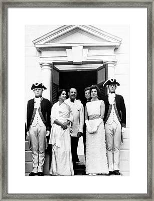 L-r, Center Four Pakistan President Framed Print by Everett
