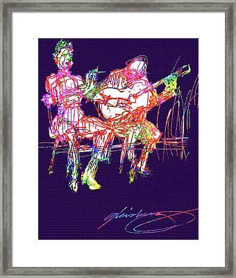 La Alma Del Flamenco Framed Print