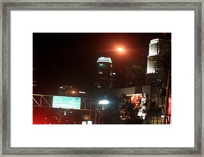 La At Night Framed Print by Mille Kedlaw