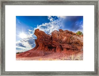 Framed Print featuring the photograph La Bajada Hills by Anna Rumiantseva