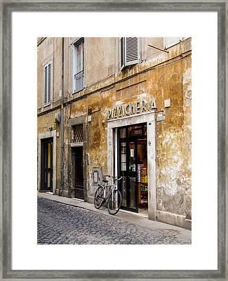 Framed Print featuring the photograph La Bicicletta by Marta Cavazos-Hernandez