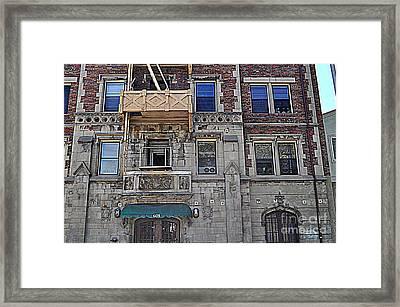 La Building Framed Print by Nicky Dou