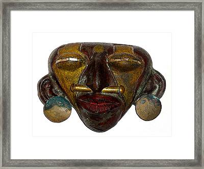La Casa Sol Tribal Mask Framed Print