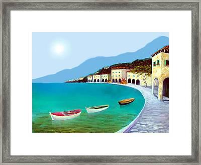 La Citta Sul Mare Framed Print
