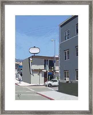 La Cityscape Framed Print by Russell Pierce