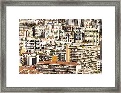 La Condamine And Moneghetti Districts, Monaco Framed Print by Carlos Sanchez Pereyra