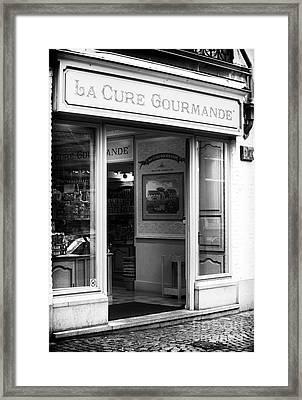 La Cure Gourmande Framed Print by John Rizzuto