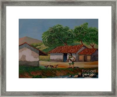 La Dama Del Rio Framed Print