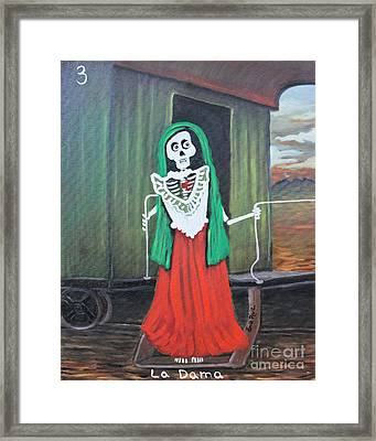 La Dama Framed Print by Sonia Flores Ruiz